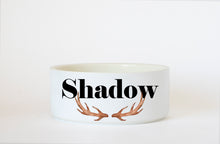 Antlers Ceramic Dog Bowl