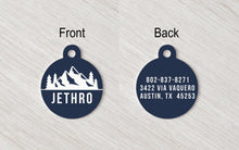 Pet Tag - Round - Mountains