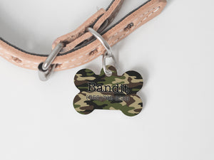 Pet Tag - Bone - Camo