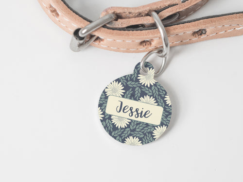 Pet Tag - Round - Flower Child