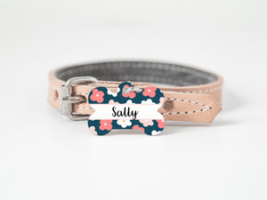 Pet Tag - Bone - Flower