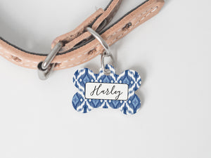 Pet Tag - Bone - Ikat