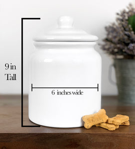 """Water Color Breeds"" Large Dog Treat Jar"