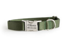 Olive Green Nylon Dog Collar