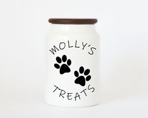 """Paws Treat Jar"" Dog Treat Jar"