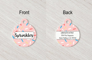 Pet Tag - Round - Sprinkles