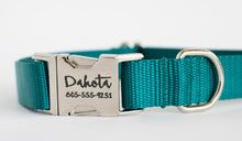Teal Nylon Dog Collar