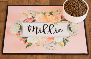 Dog Placemat - Pink Floral