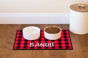 Dog Placemat - Red Buffalo Plaid