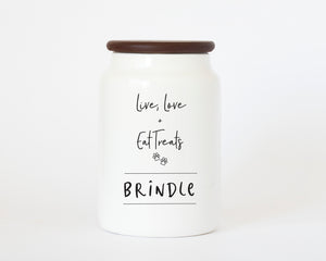 """Live, Love and Eat"" Dog Treat Jar"