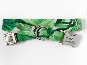 """Palms"" Dog Collar"