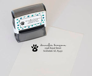 """Paw Print"" Address Stamp"