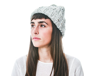 Quarry Toque, Hand Knit in Alpaca Merino Wool, soft and lightweight fall accessory