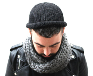 Fisherman Beanie, hand knit men's toque