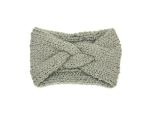 Quarry Braided Headband in Alpaca Merino Wool, hand knit in Canada