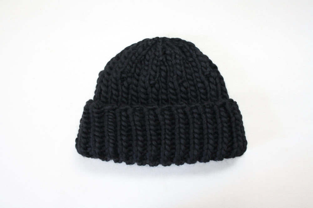Chunky Knit Hat in Merino Wool, oversize, handmade in Canada