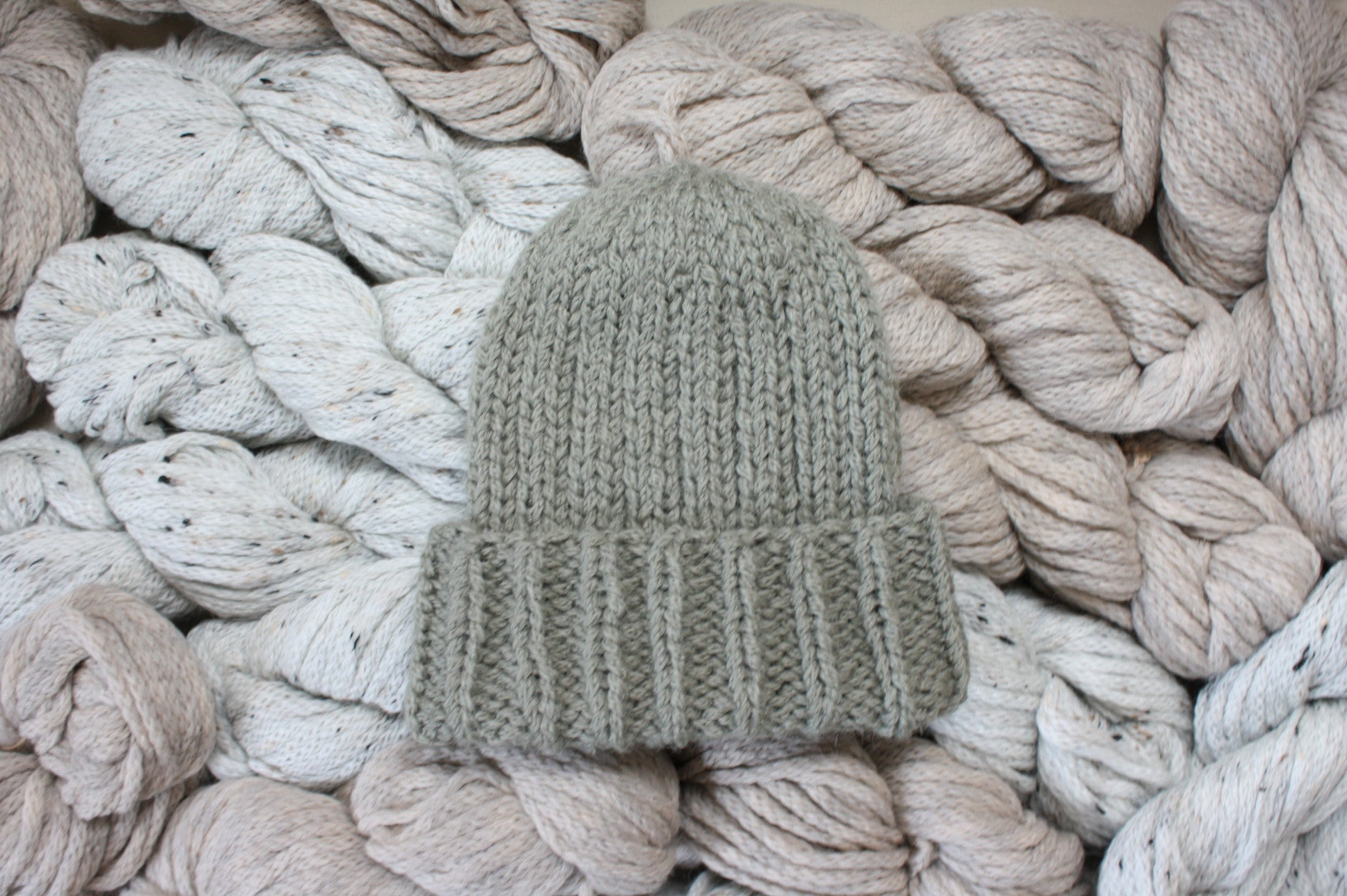 Quarry Knit Beanie in Charcoal Gray Alpaca Merino Wool Men's Hat