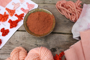 Madder Root Natural Dye, red plant dye
