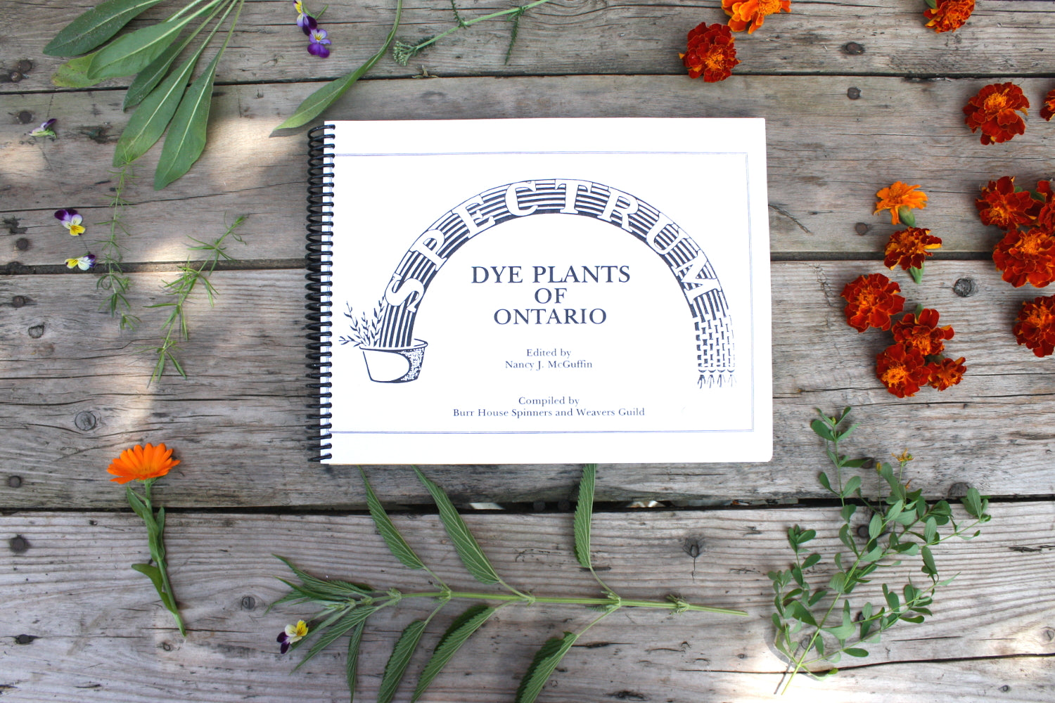 Spectrum Dye Plants of Ontario Book, guide to natural dyeing with temperate climate plants