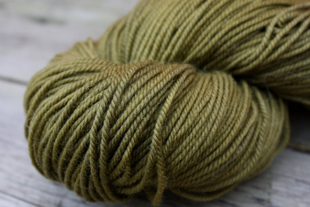 Woodland Merino Wool Yarn in Olive