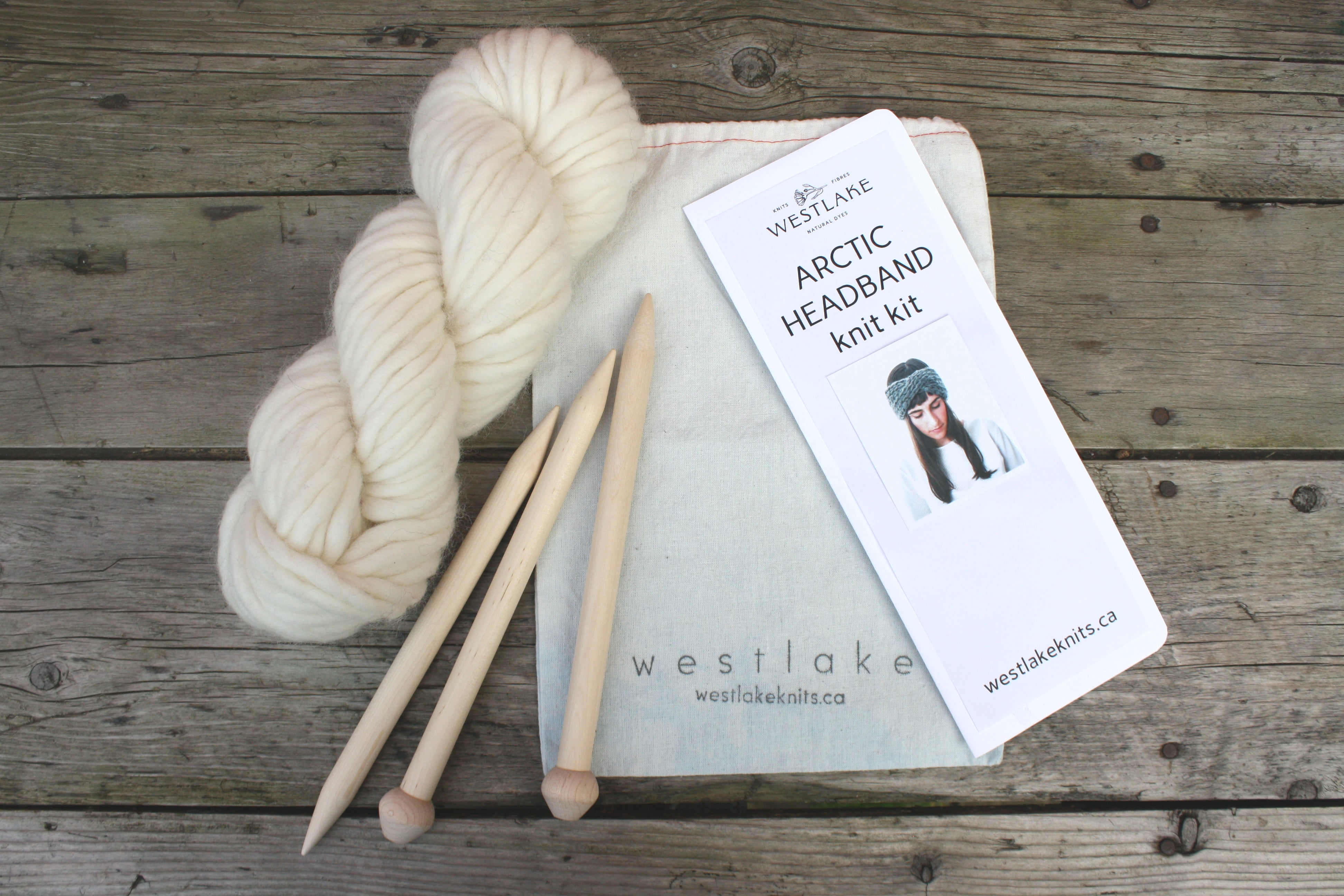 Artic Cross Chunky Headband Knitting Kit