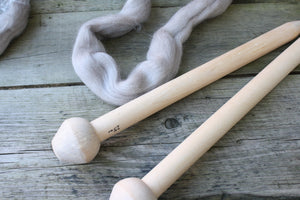 25mm Birchwood Knitting Needles, handmade in Nova Scotia