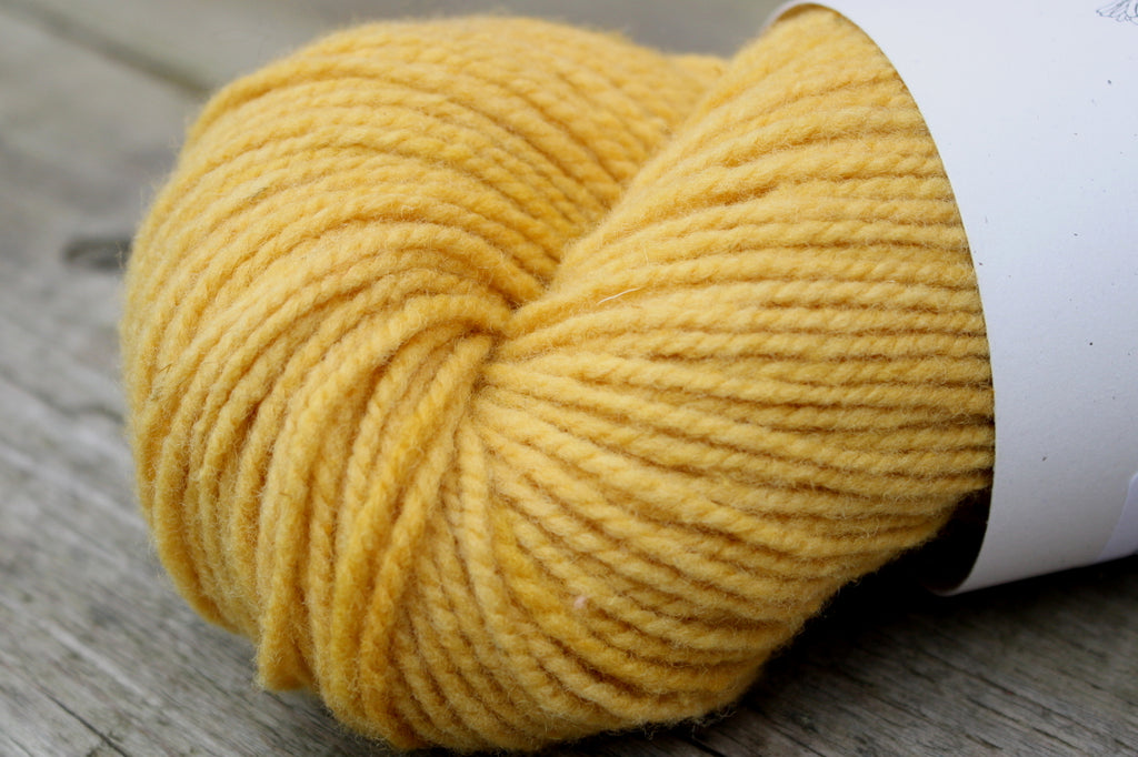 Mustard Marigold Dyed Canadian Wool