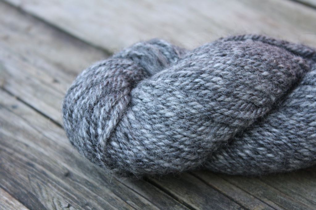 Alpaca Fibre Coop Yarn, Heathered Grey Bulky