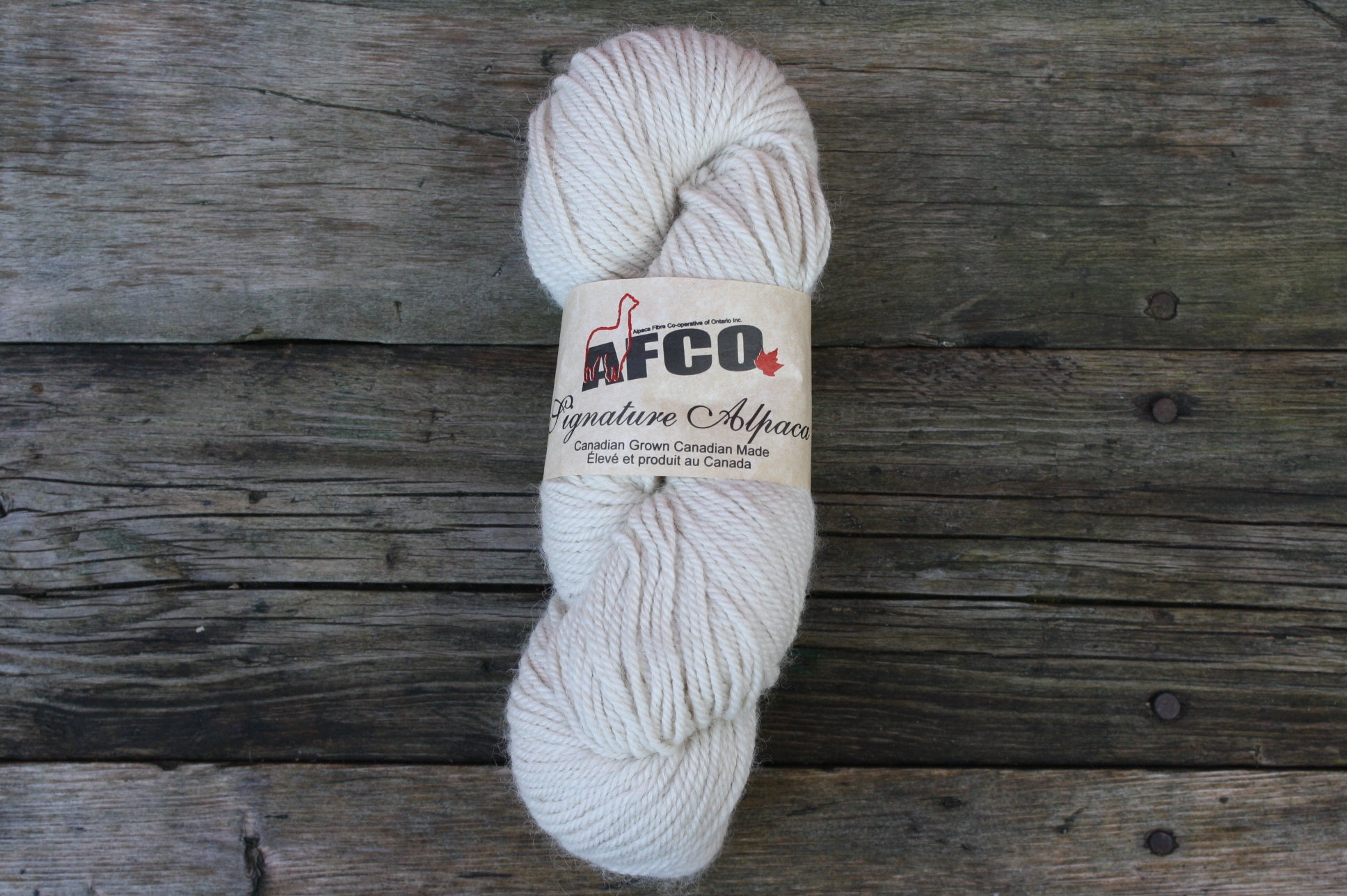 Alpaca Fibre Coop Yarn, Cream Worsted
