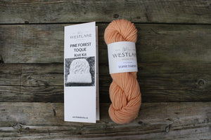 Pine Forest Toque Kit featuring Topsy Farms Yarn