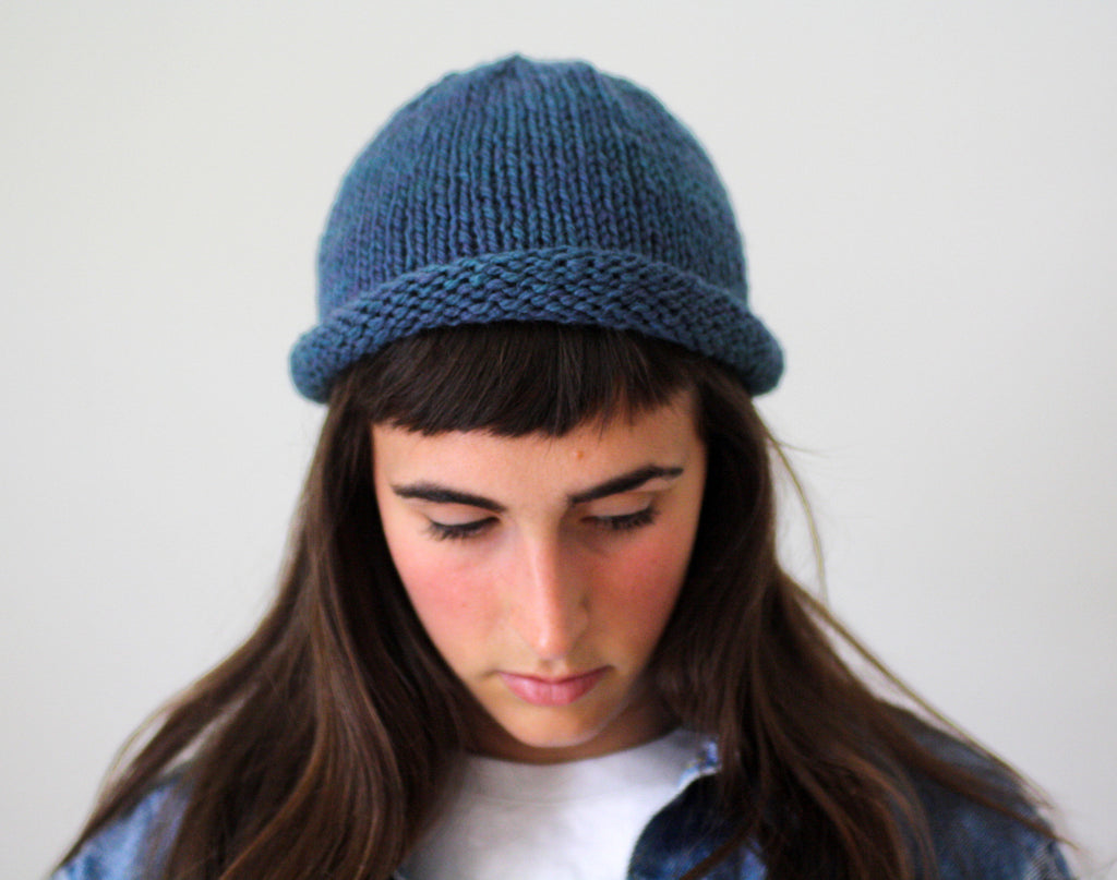 Fisherman Beanie, lightweight hand knit toque, made in Toronto