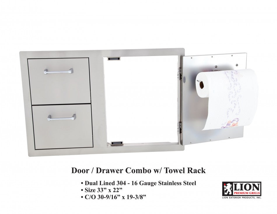 Door and Drawer Combo with Towel Rack