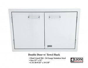 Double Door with Towel Rack