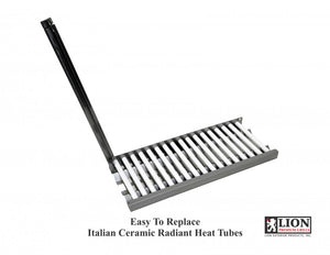 Lion Premium Ceramic Heat Tubes with Vented Flame Tamer Tray