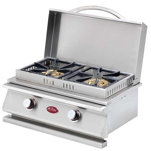 CAL FLAME Deluxe Double Side By Side Burner