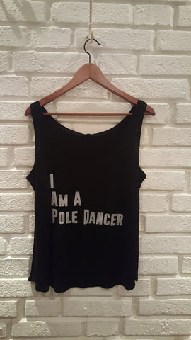 I Am A Pole Dancer Svart Linne Herr