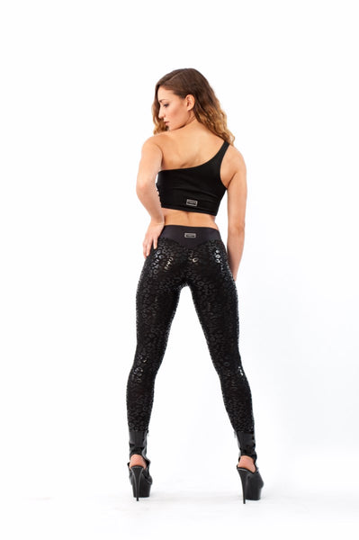 Leggings Sticky Superhero V-string Leopard