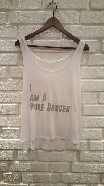 I Am A Pole Dancer Linne Vit Dam
