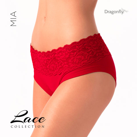 Mia - Lace Collection Red/Röd
