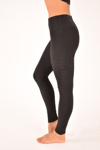 Embossed Leggings - Black