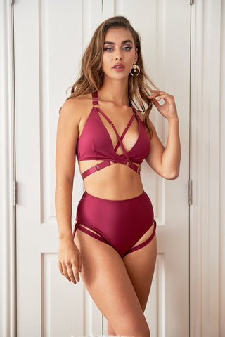 Blaire Bottom Recycled Burgundy