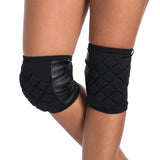 Poledancerka knee pads BLACK with Pockets