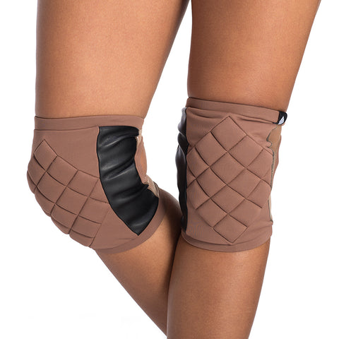 Poledancerka knee pads - Nude No 2 with pocket