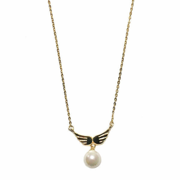 Winged Pearl Necklace
