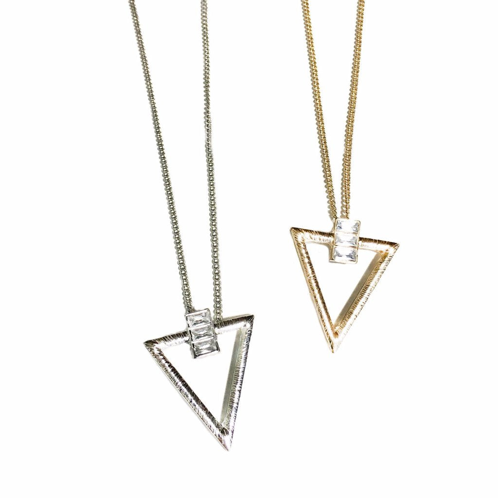 Prism Studded Triangle Pendant