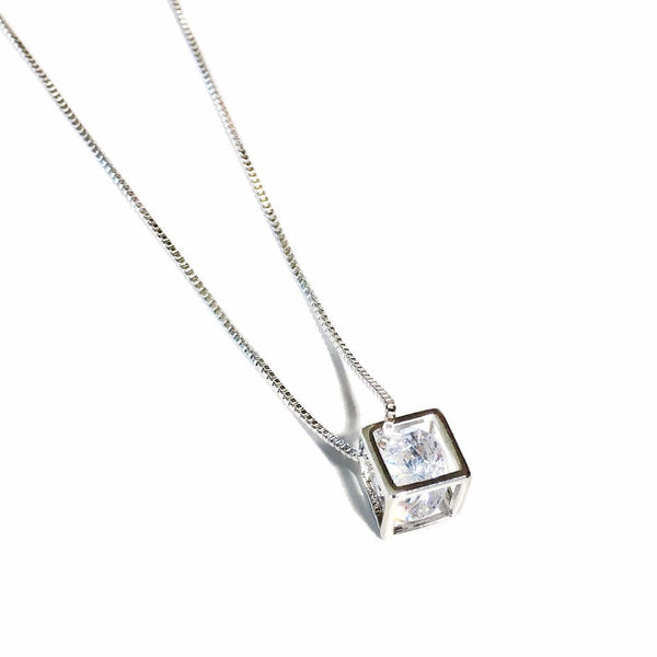 Cube Crystal Necklace - MenriThings