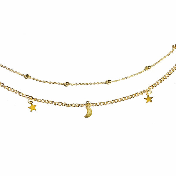 Moons & Stars Choker Necklace - MenriThings