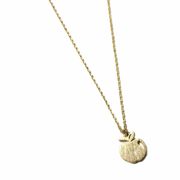 Dainty Apple Necklace