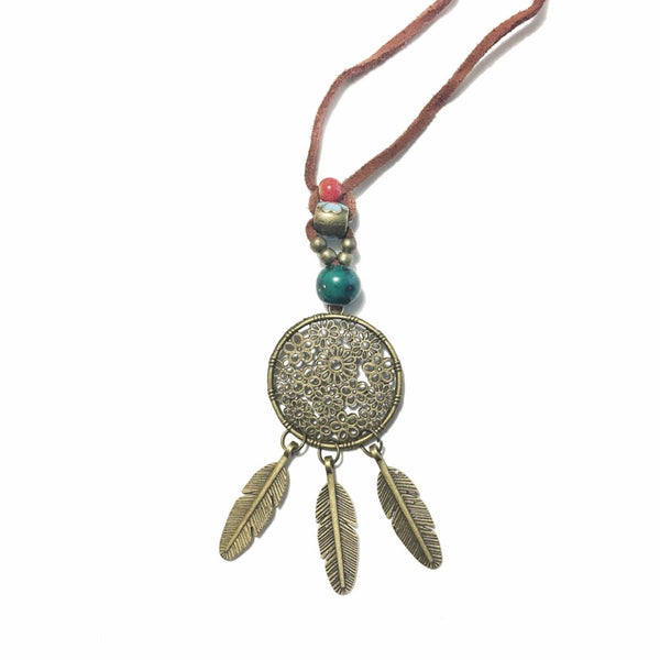 Ethnic Style Dreamcatcher Necklace