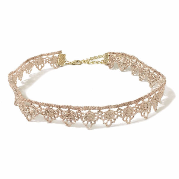 Dusty Rose Lace Choker